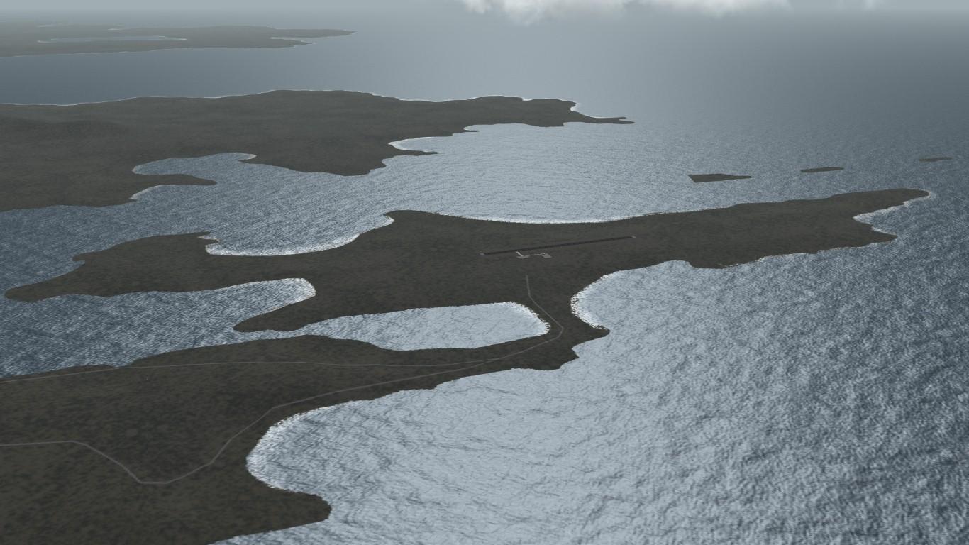South Atlantic Terrain: Malvinas Military Airbase (BAM Malvinas)/Stanley Airport