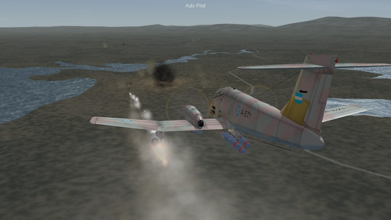 South Atlantic Terrain: Pucará providing close air support.