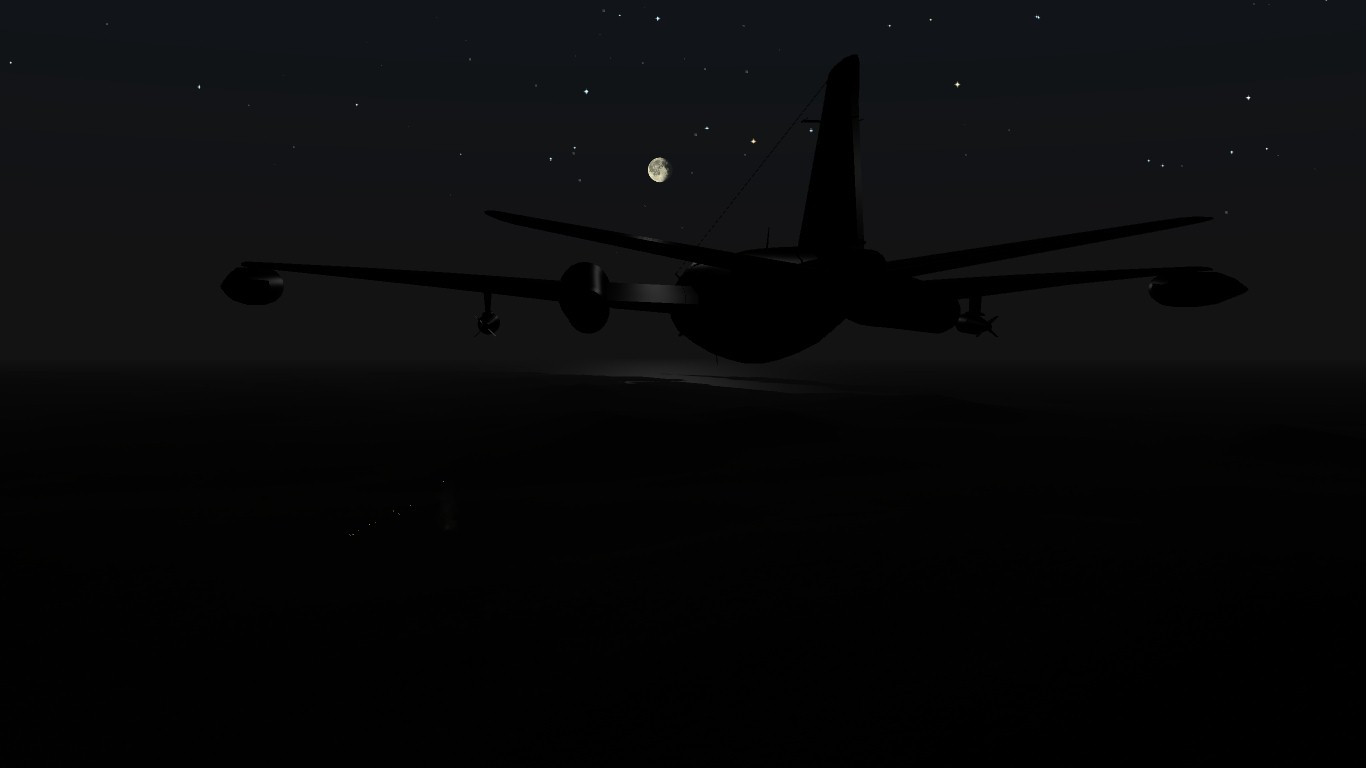 South Atlantic Terrain: Canberra on combat zone.