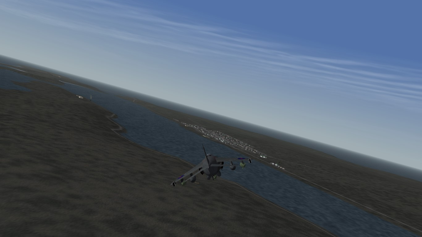 Sea Harrier strike on Puerto Argentino