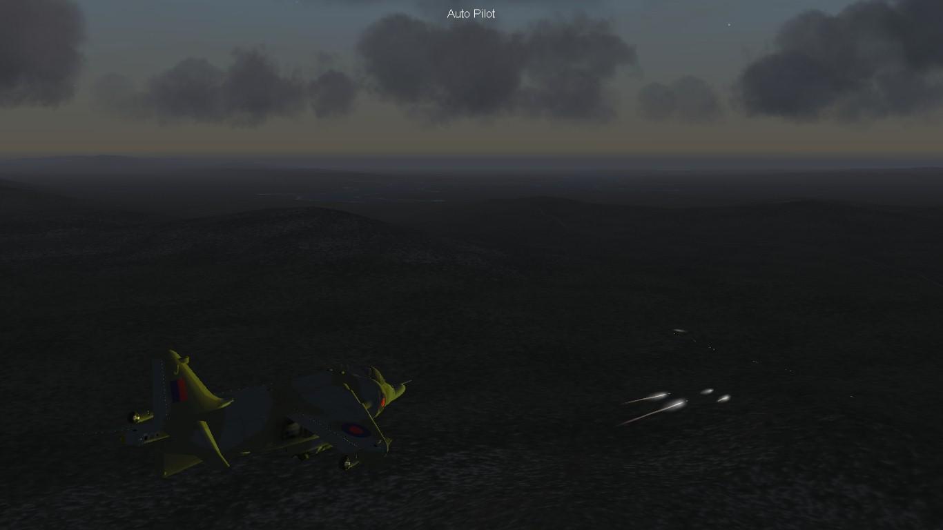 South Atlantic Terrain: Harrier Gr.3 providing close air support.