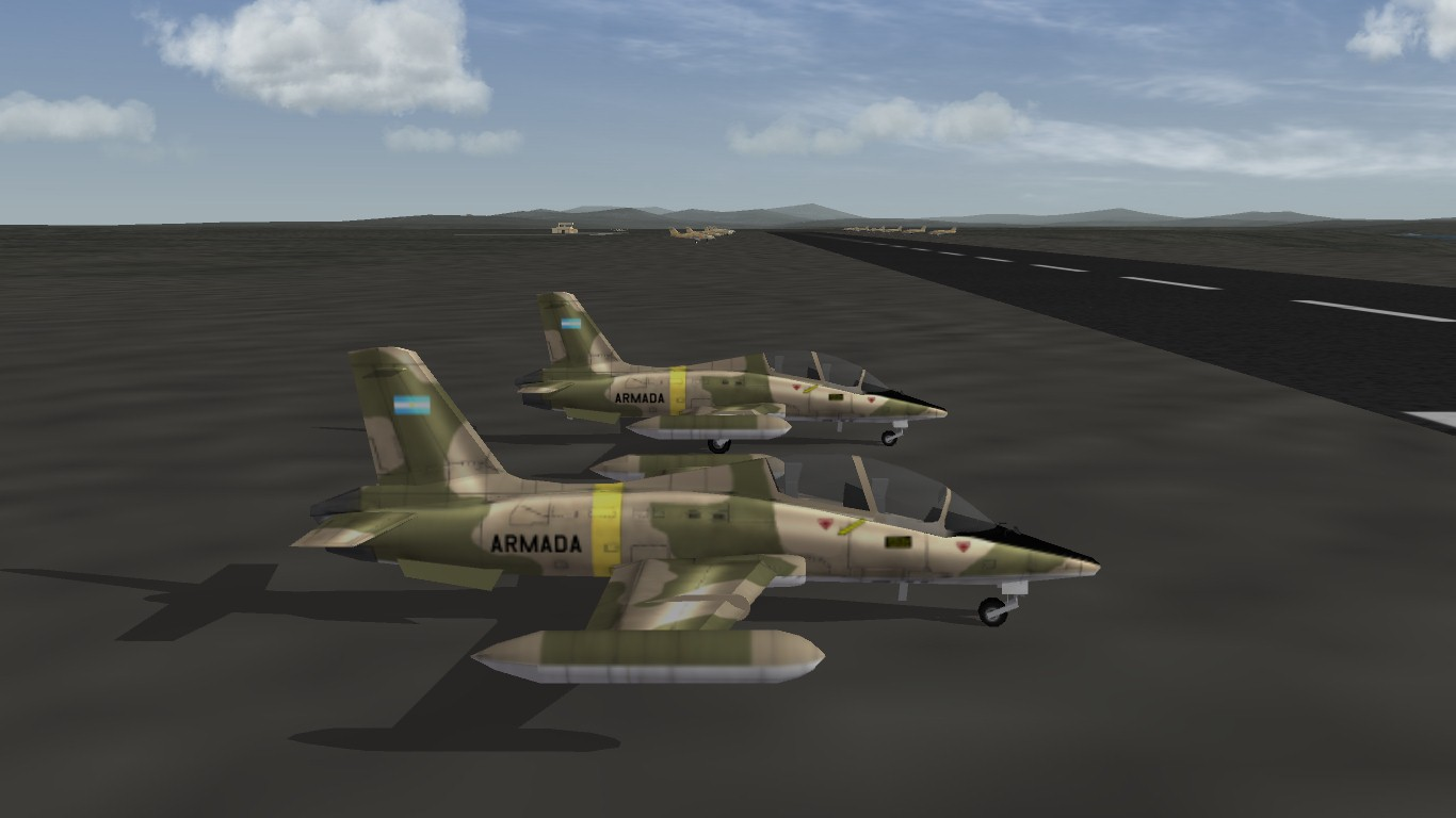 South Atlantic Terrain: Parked Aermacchi MB-229A