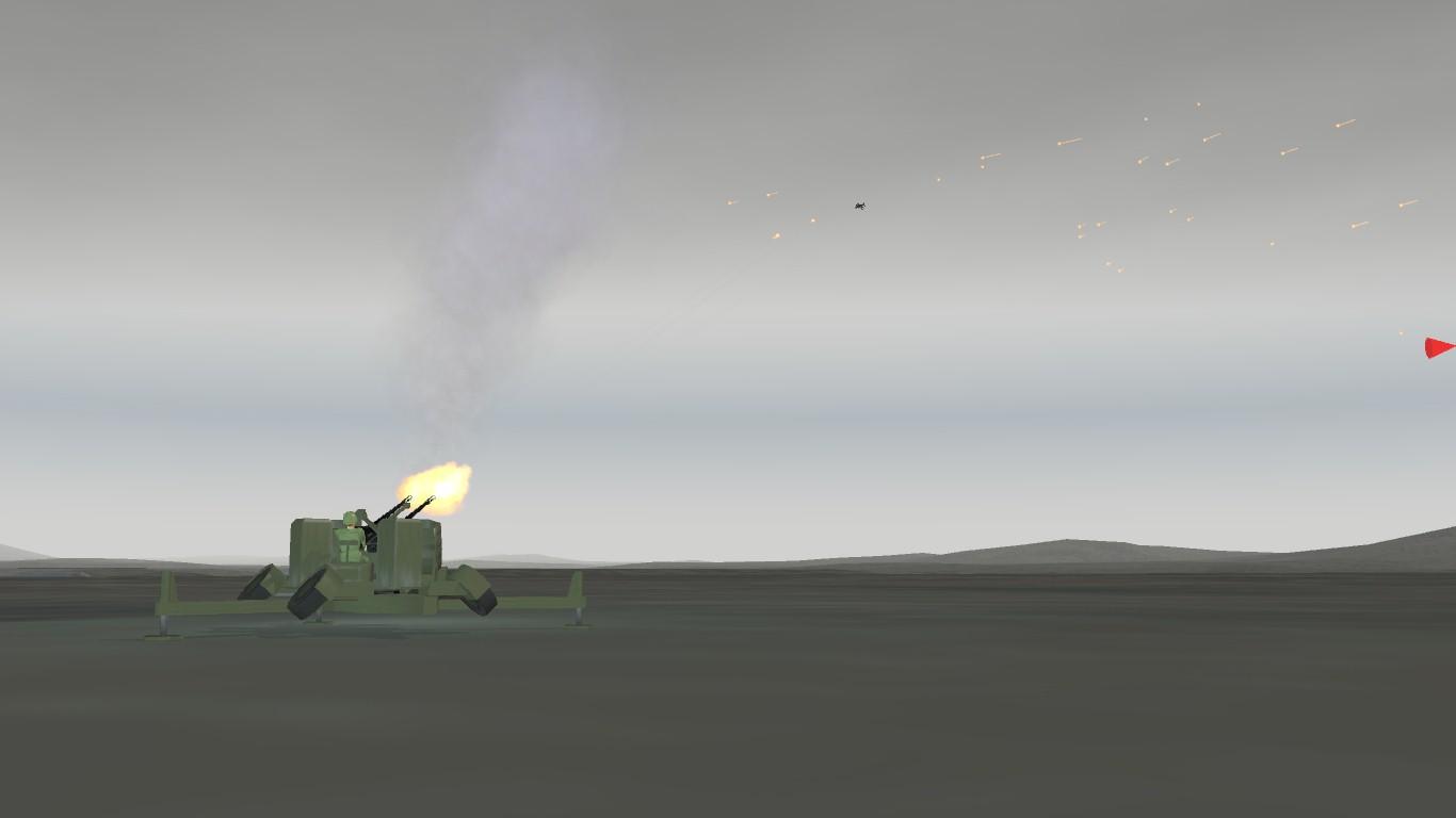 South Atlantic Terrain: AAA Artillery agains Sea Harrier.