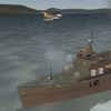 South Atlantic Terrain: Dagger fliying over HMS Fearless.