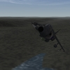 South Atlantic Terrain: Sea Harrier taking off from San Carlos FOB
