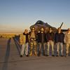 AF-6, Moonrise on the ramp, F-35 ITF Edwards AFB, Ca., 10 Decemb