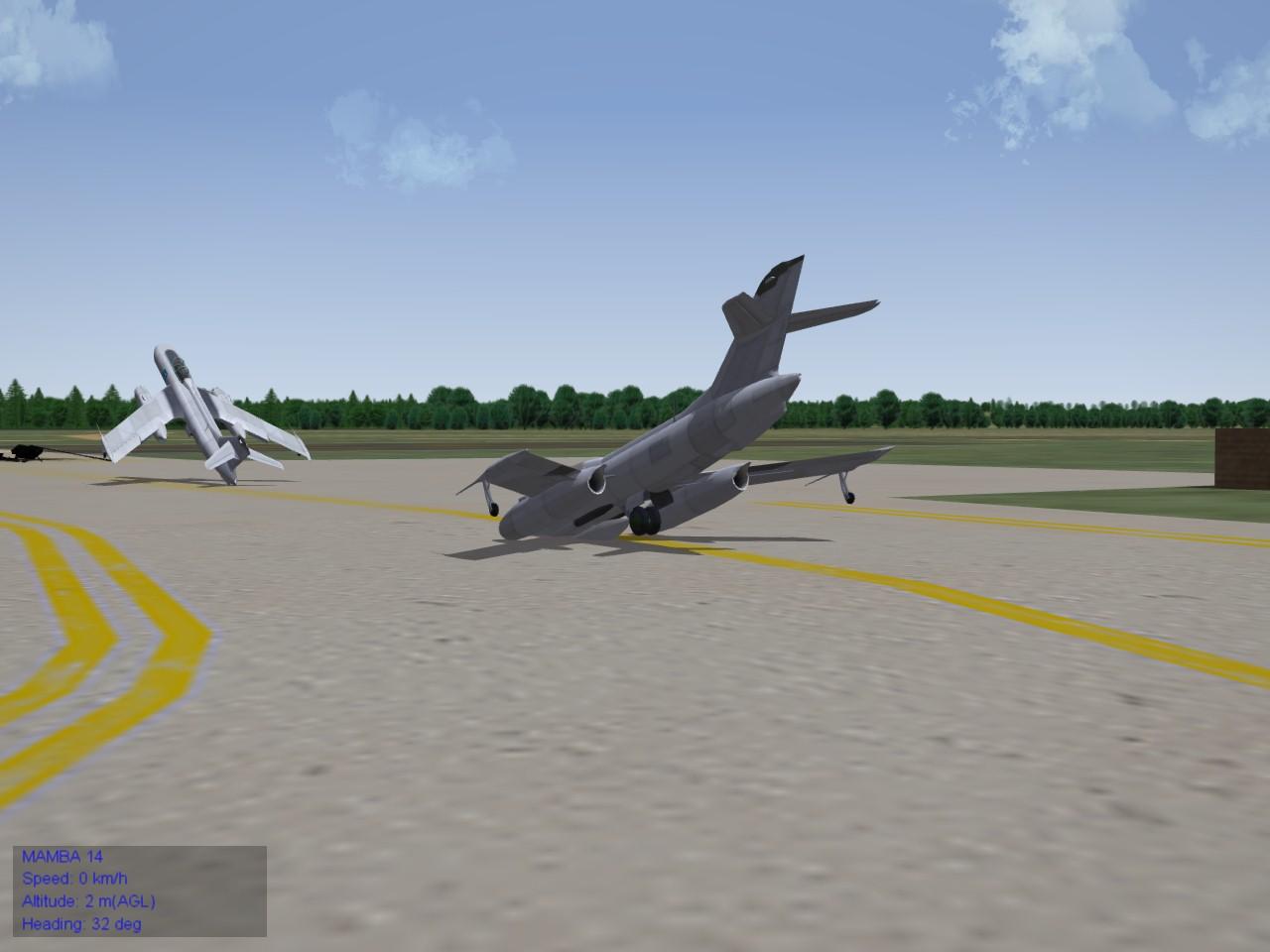 Mandrake M crashing on runway