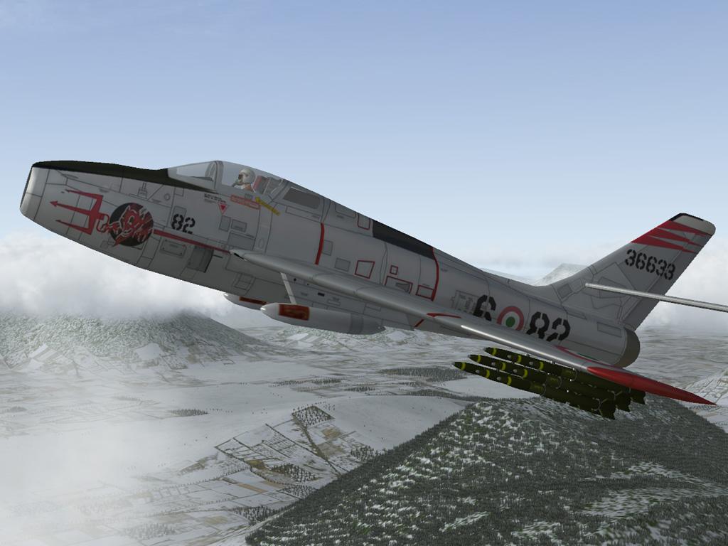 F 84F 45 6ª Aerobrigata AMI (1960)