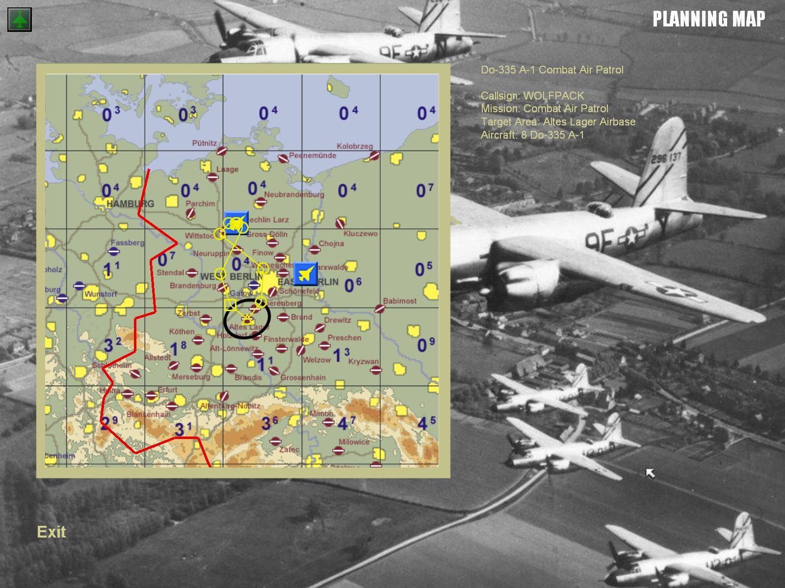 MENU Map screen