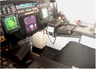 Joystick for military aircraft