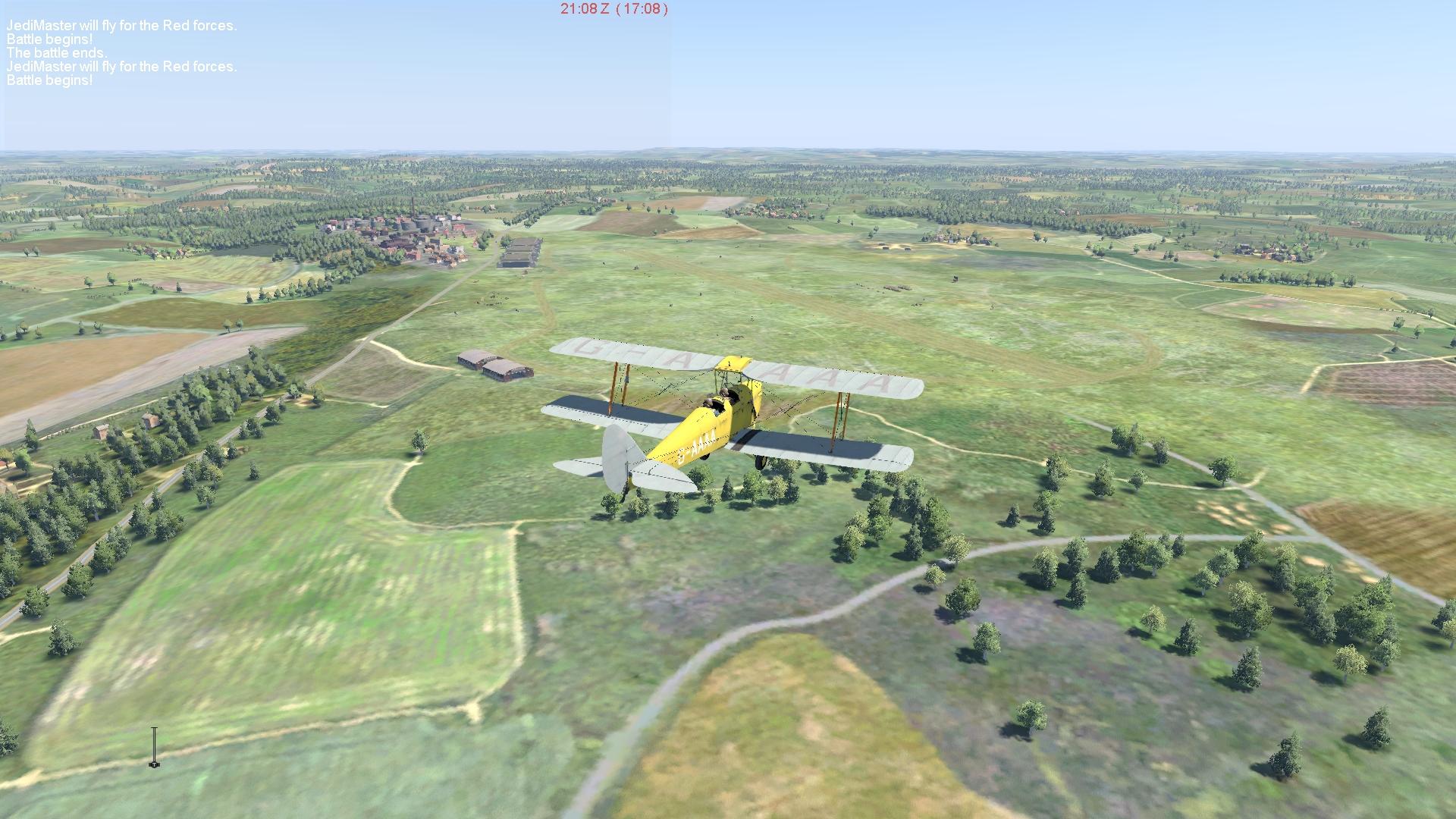 COD Tiger Moth over England