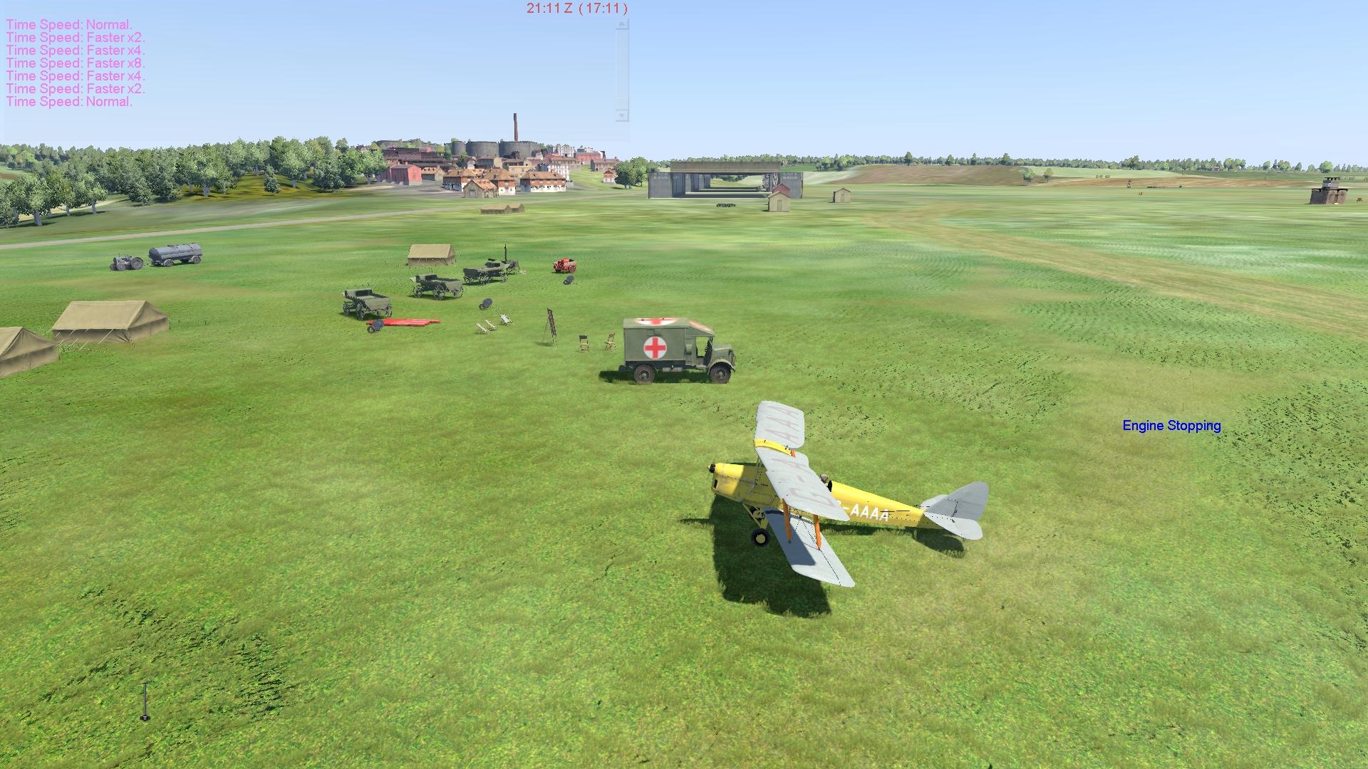 COD Tiger Moth airfield