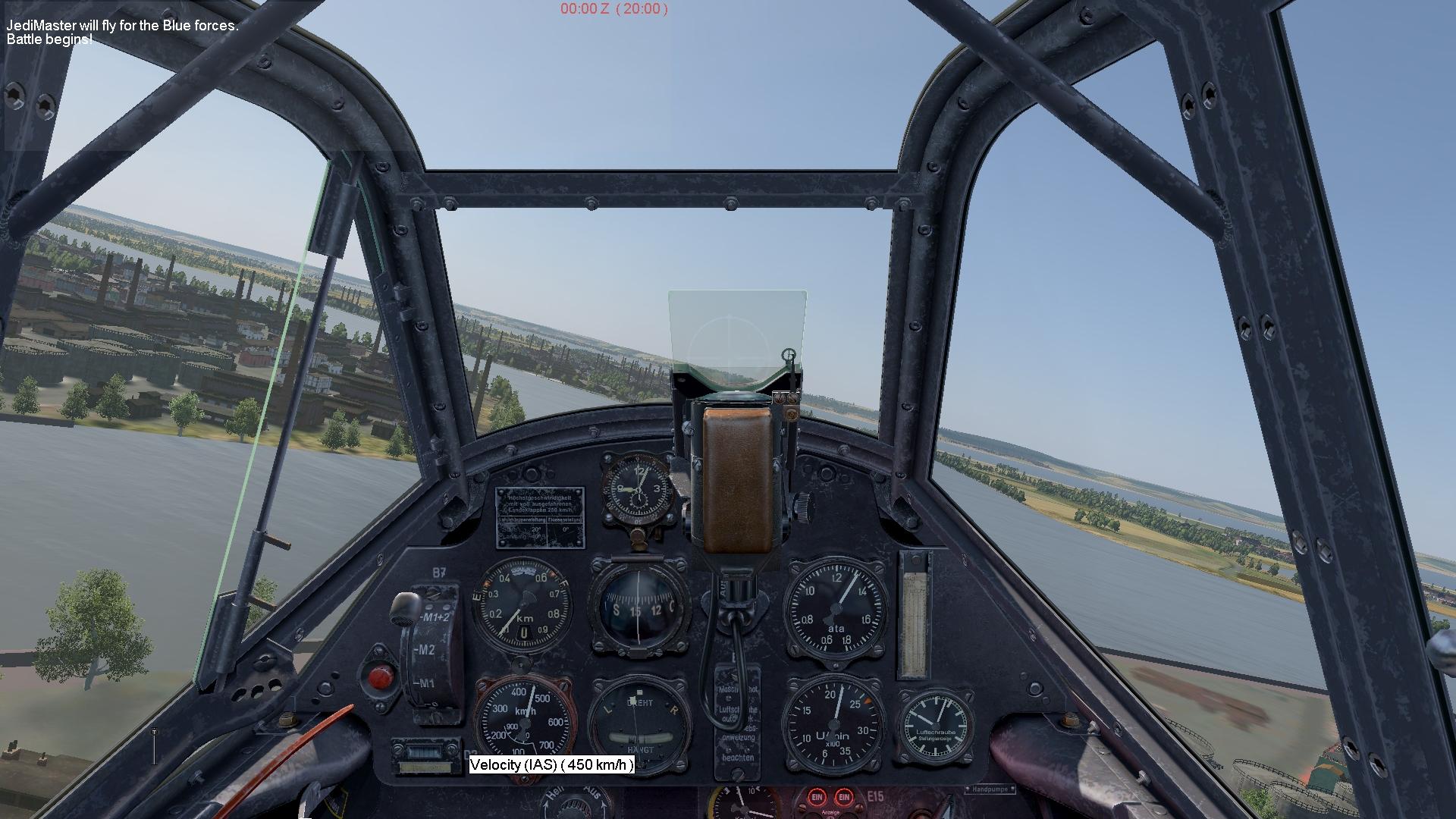 COD Bf109E cockpit