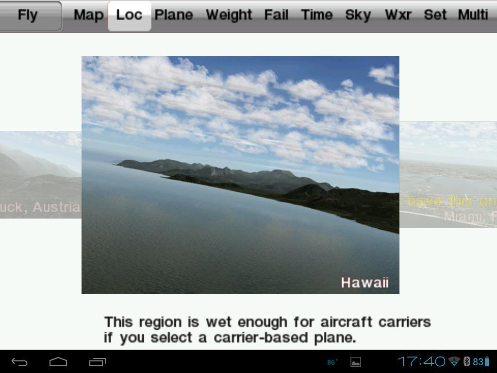 Location Screen