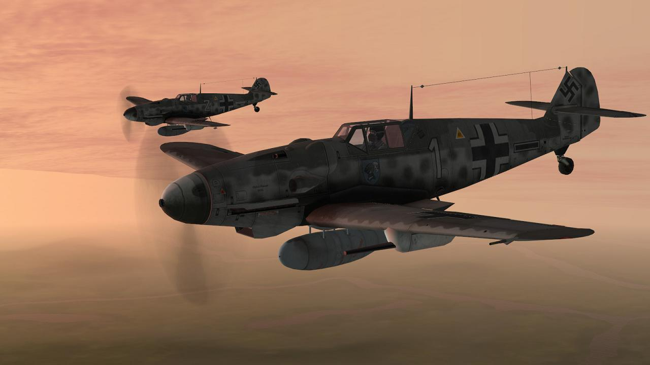 Scene from Boelcke's Defence of the Reich Campaign in IL-2 + Dark Blue World