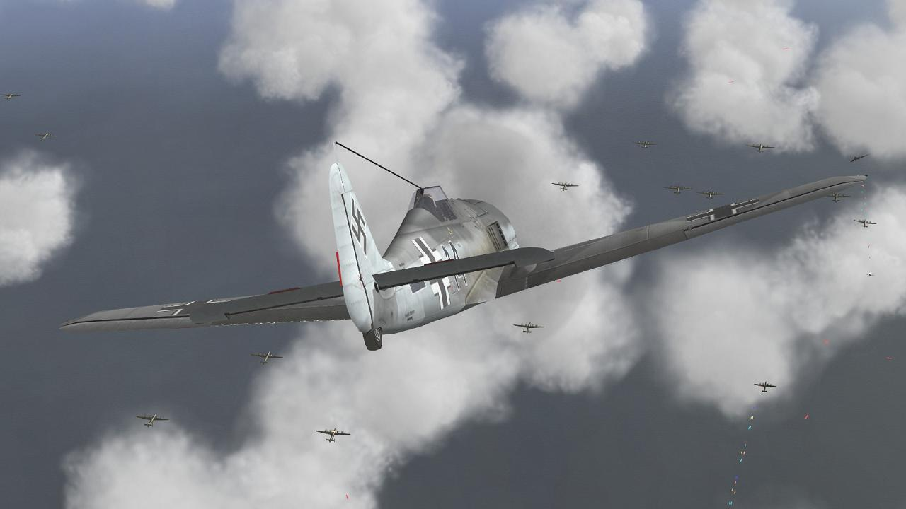 Scene from FlatSpinMan's Defence of the Reich Campaign in IL-2 + Dark Blue World
