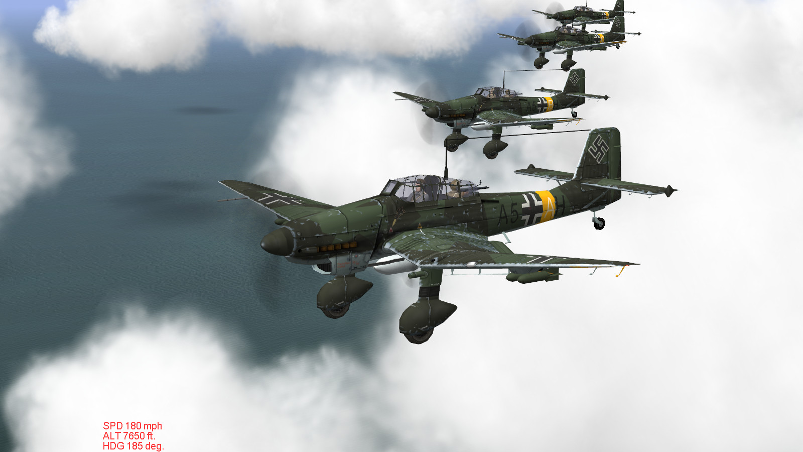 IL-2 + Dark Blue World, over Crimea in stock Stuka campaign