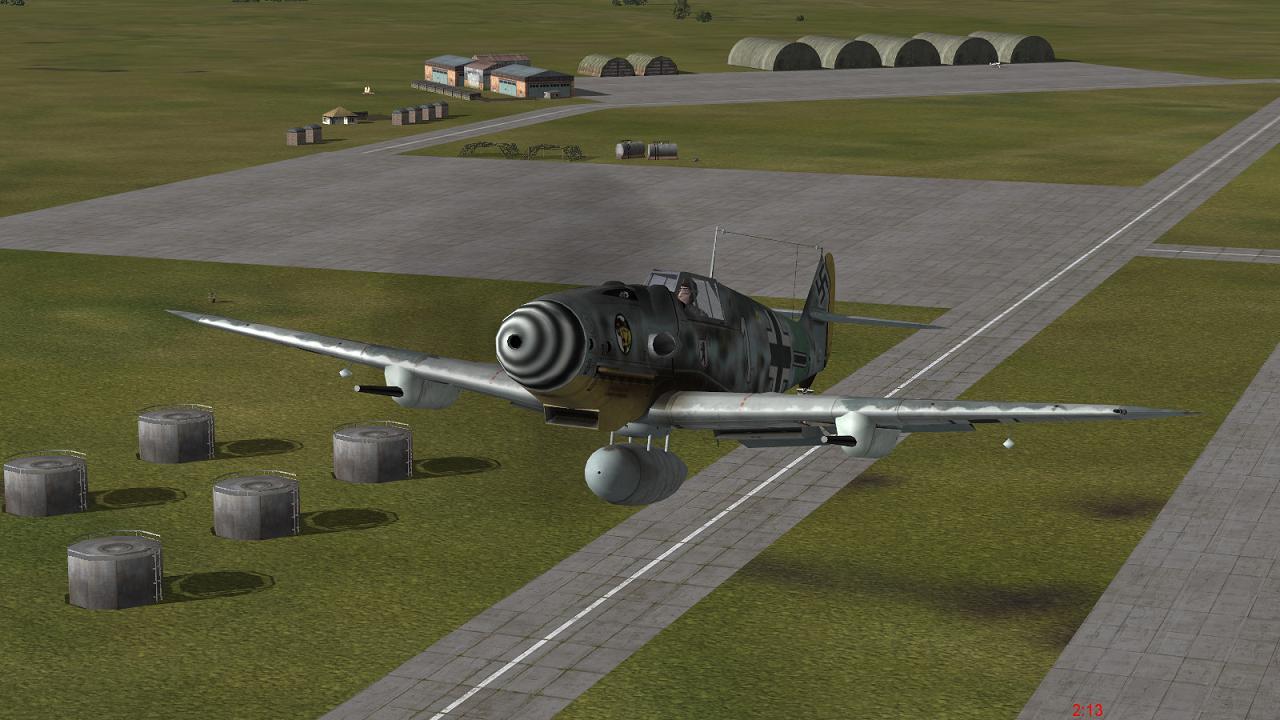 Bf109G6R6, IL-2 + Dark Blue World
