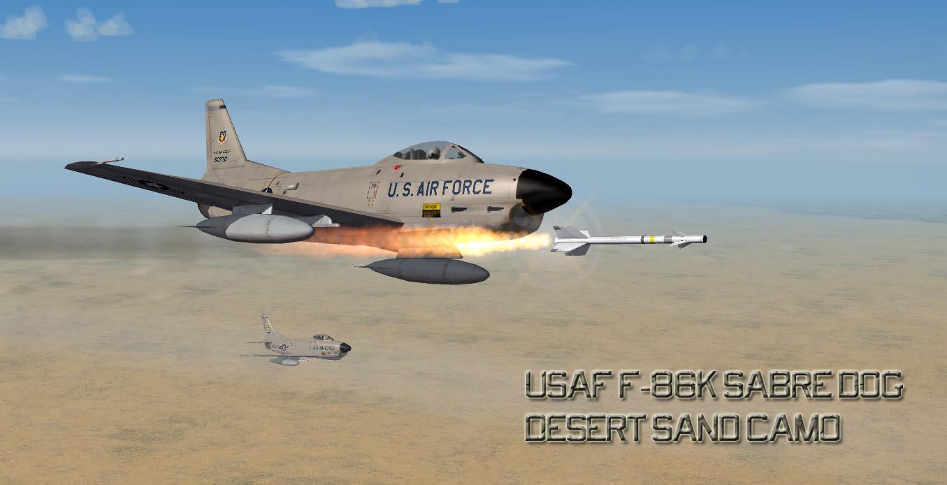 USAF F 86K Sand