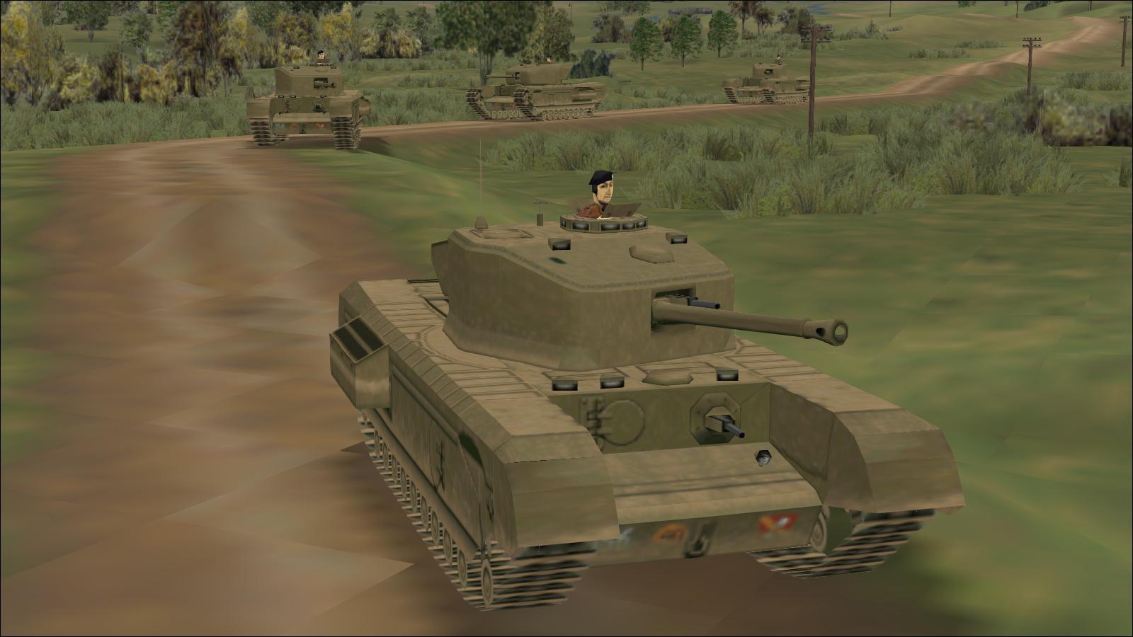 Panzer Elite - Brit44-x testing - Churchills approaching Gavray