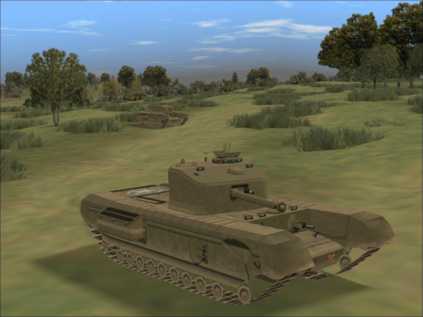 Panzer Elite Brit44-x  - South of Hill 112 - Churchill VIIs