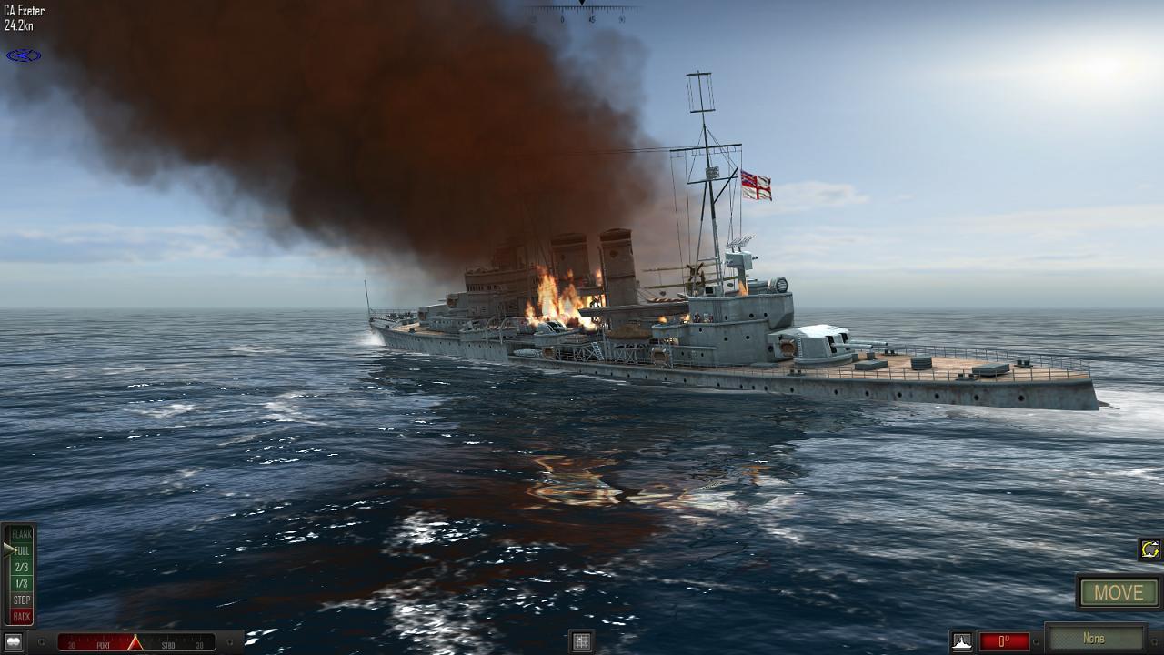 Atlantic Fleet - HMS Exeter, Battle of the River Plate, December 1939