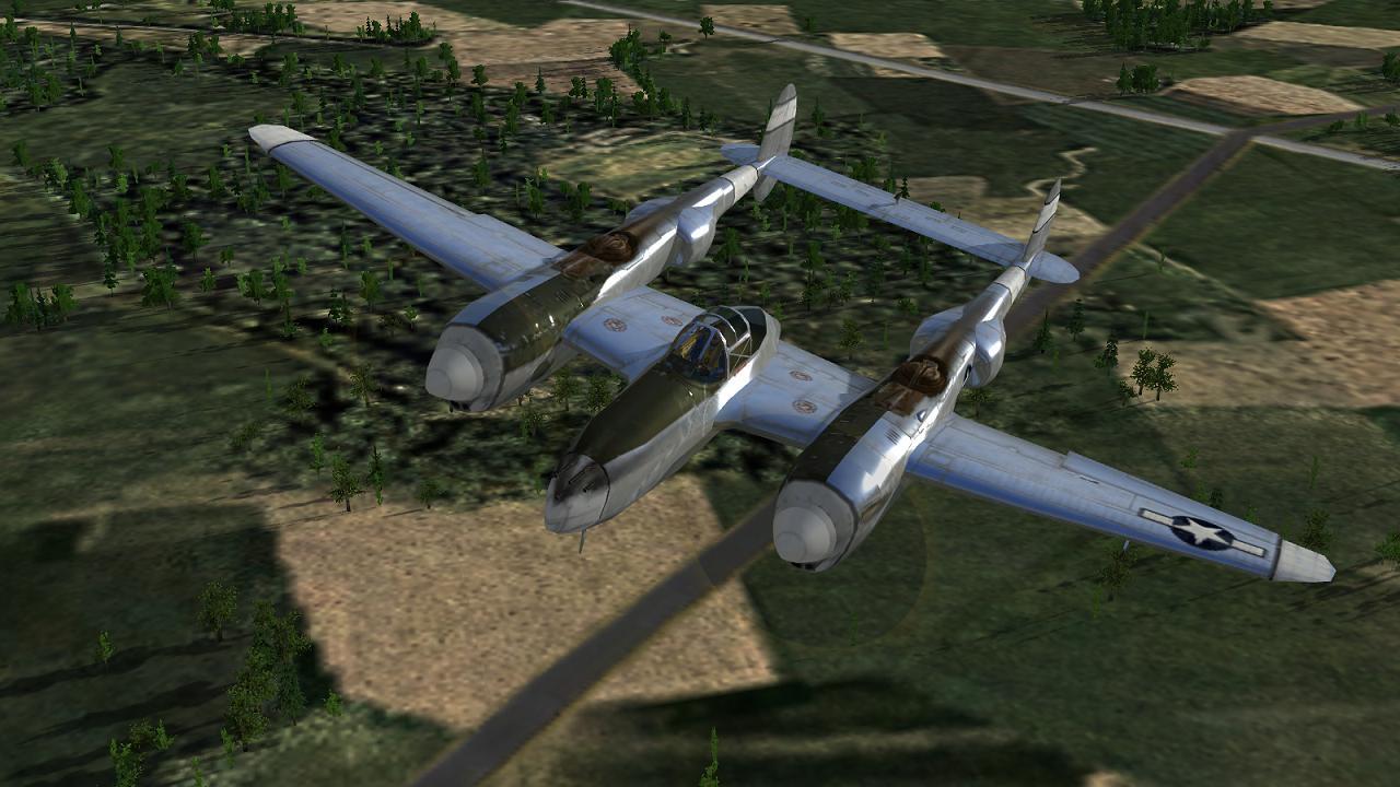 CFS3+DX9 mod - stock P-38L
