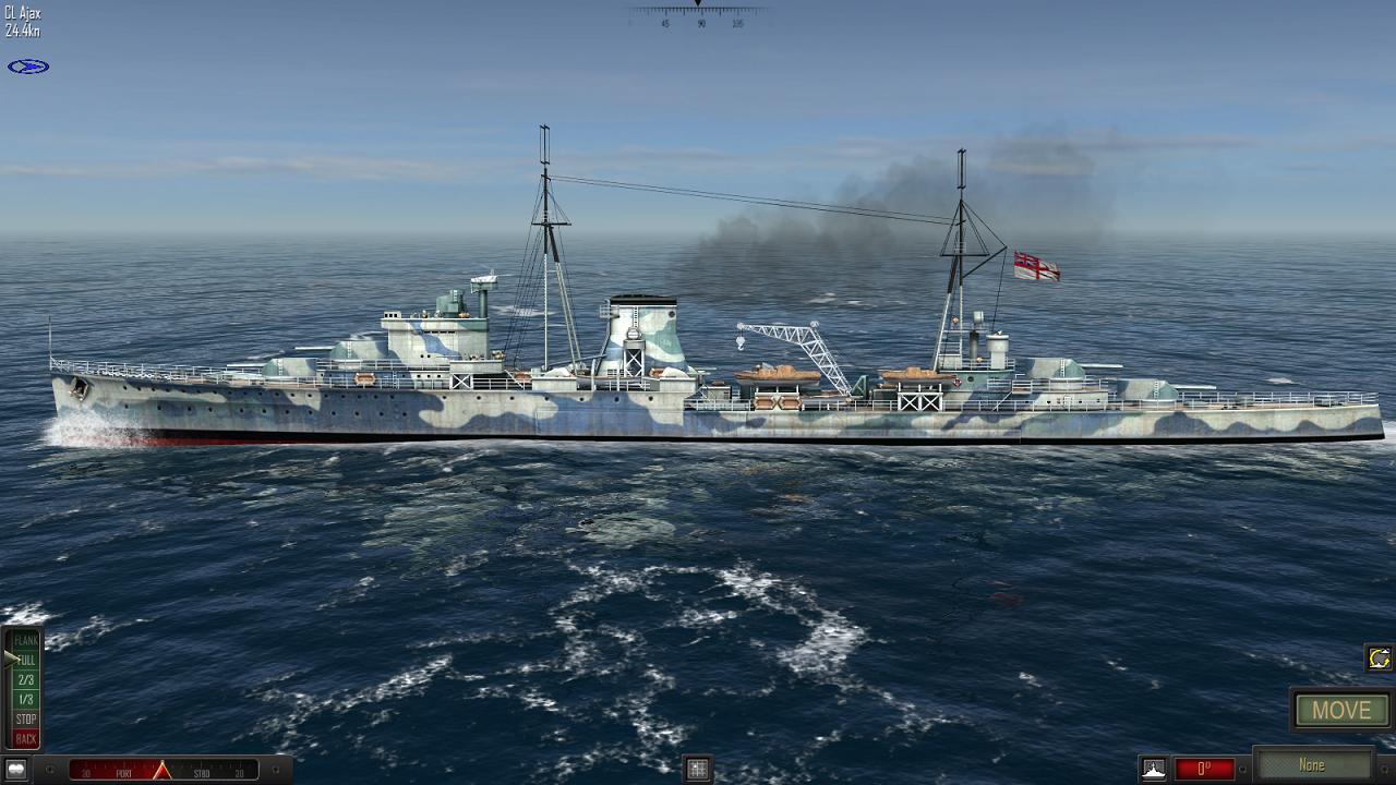 Atlantic Fleet - HMS Ajax, Battle of the River Plate, December 1939