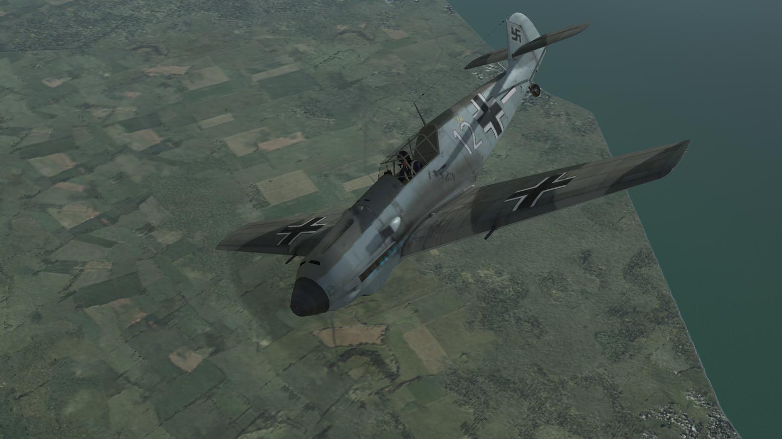 Bf109E, II/JG77, CFS3+ETO Expansion+BoB campaign escort mission, July 1940