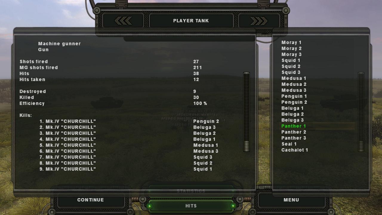 Steel Fury+STA mod: Op Bluecoat mission: Jagdpanther of 3.Kompanie, s.Pzjg.Abt 654, platoon leaders stats, post-mission