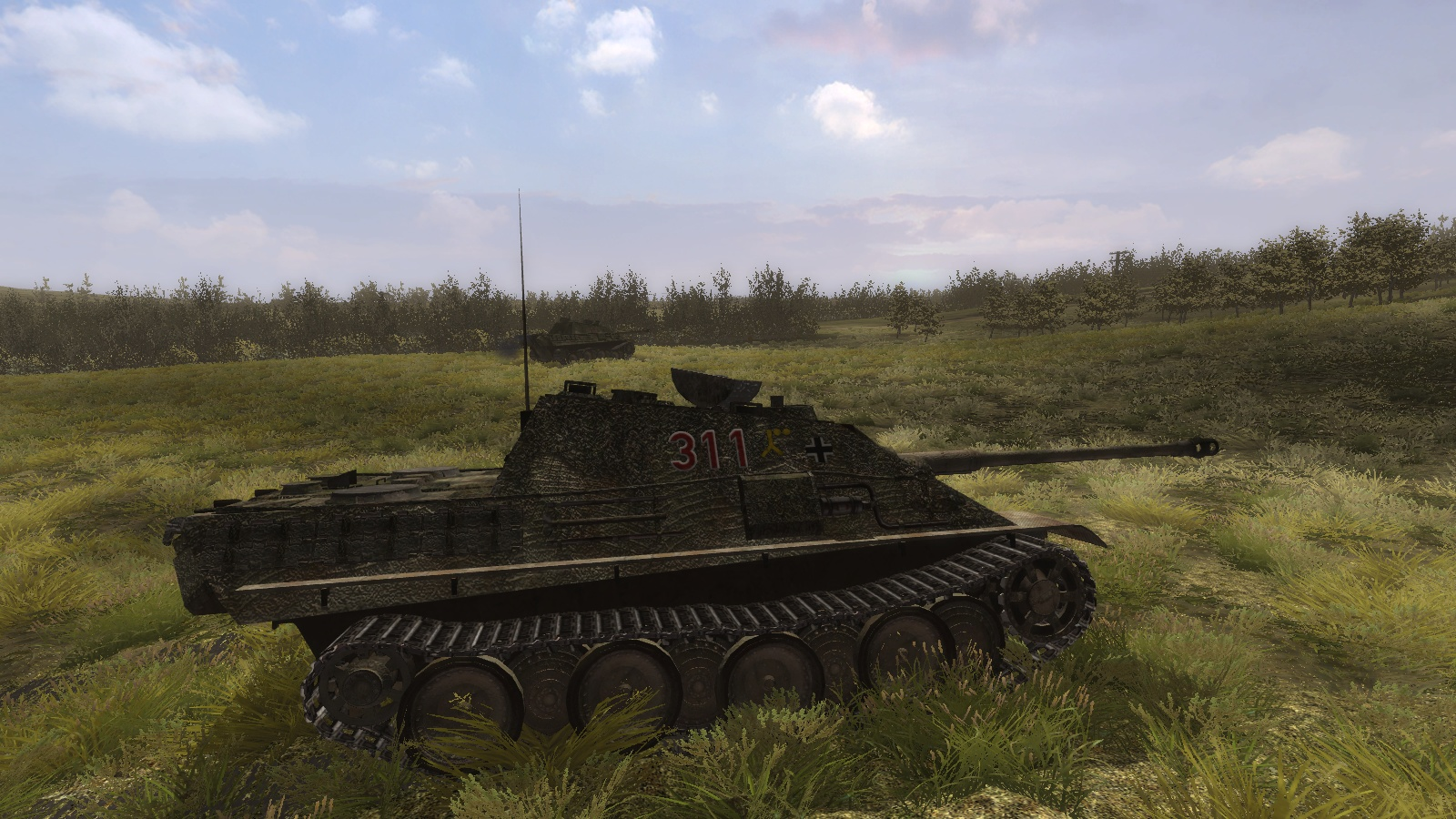 Steel Fury+STA mod: Jagdpanther stalking the Scots Guards on Hill 226, 30 July 1944