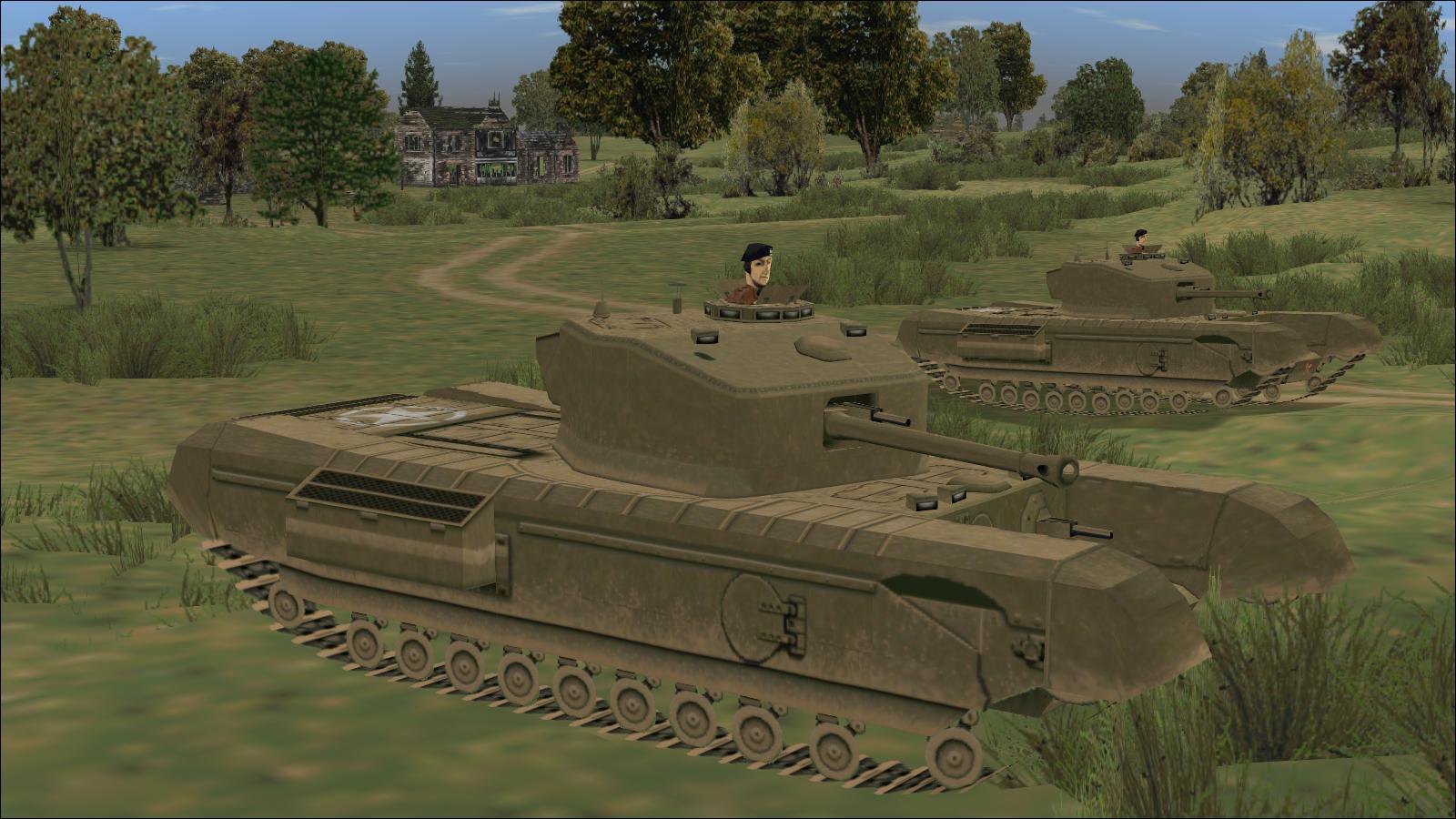 Panzer Elite - Brit44-x beta - South of Hill 112 - Churchill VIIs, 3 Troop, 'C' Squadron, 107 Regt RAC