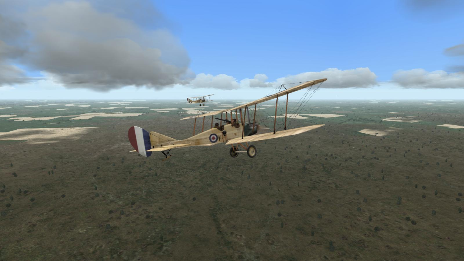 Wings Over Flanders Fields - BE2cs, 16 Sqdn RFC over the front, May 1915