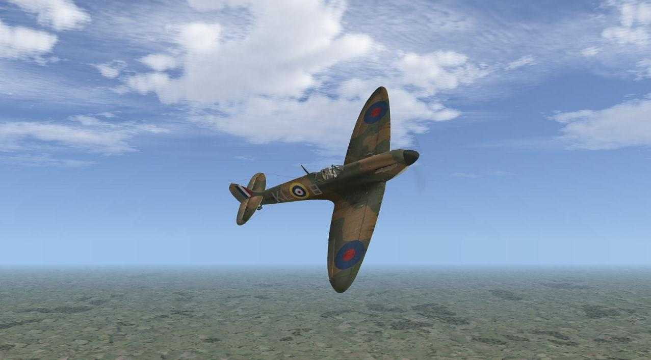Al Deere's Spitfire I, 54 Sqdn, summer 1940, in Battle of Britain - Wings of Victory