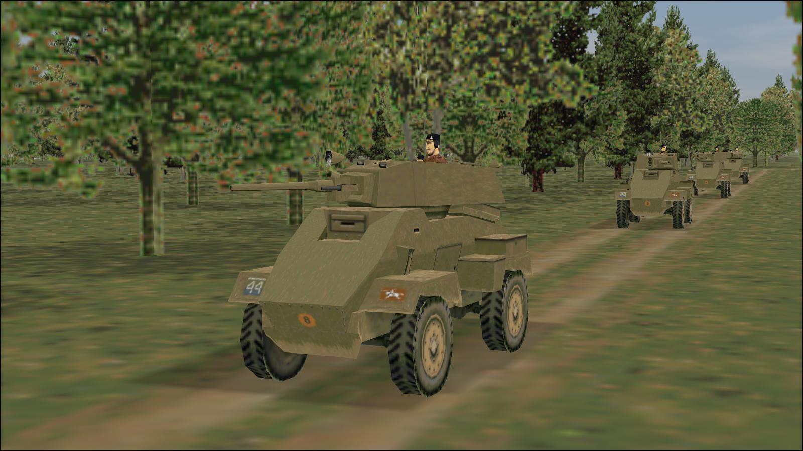 Panzer Elite Britpack '44-x beta - Dickie's Bridge scenario - Humber Armoured Cars