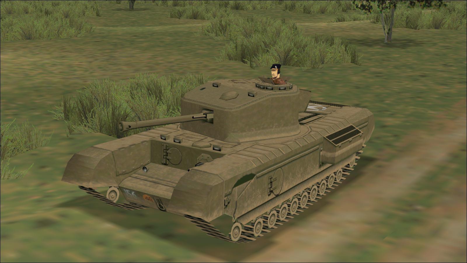 Panzer Elite - Brit44-x beta - South of Hill 112 - Churchill VII, 3 Troop leader's tank