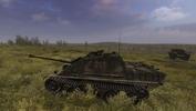 Steel Fury+STA mod: Op Bluecoat mission: platoon leader's damaged Jagdpanther, near the close of the battle