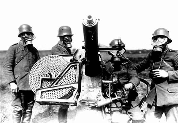 German Anti Aircraft Machine Gun With Big Drum Mag