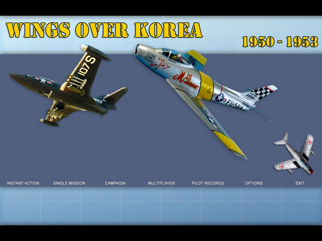 WOE main screen converted to Wings Over Korea (work in progress)