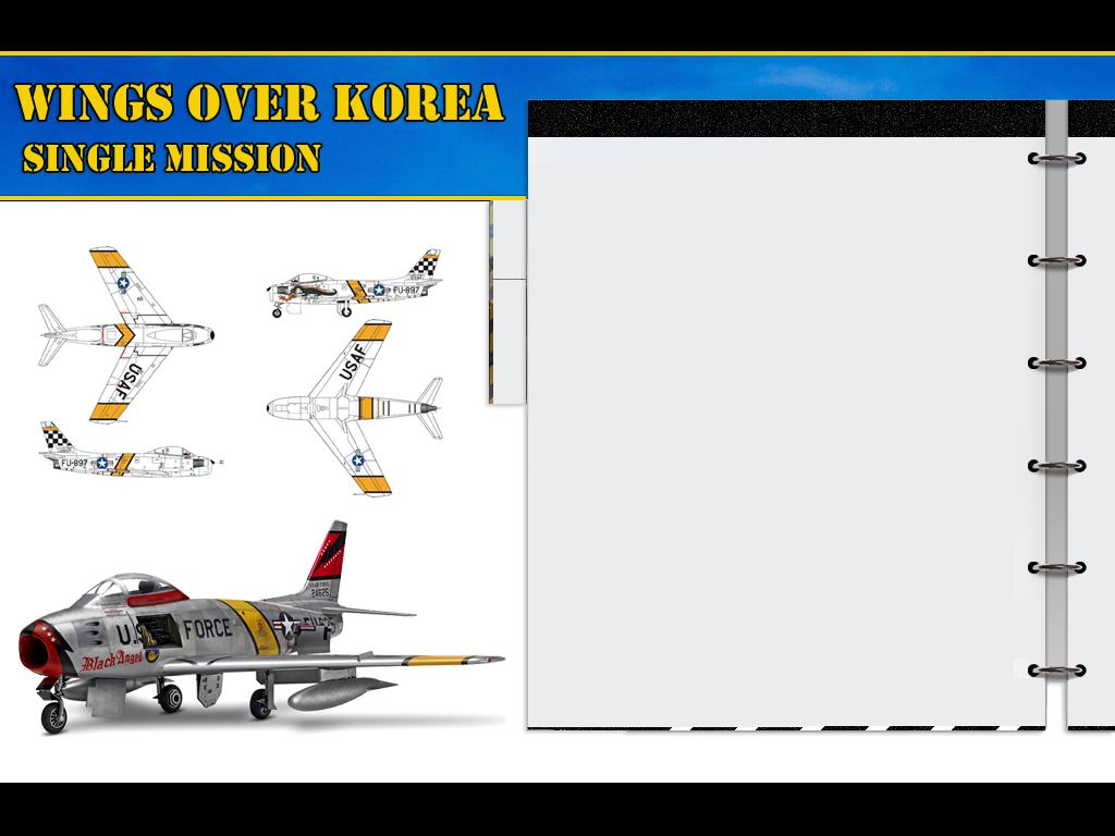 WOE Single Mission screen converted to Wings Over Korea (work in progress)