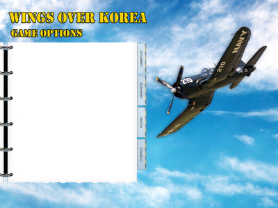 WOE Options Screen converted to Wings Over Korea (work in progress)