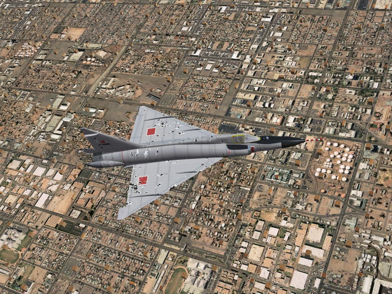 Damaged F-102