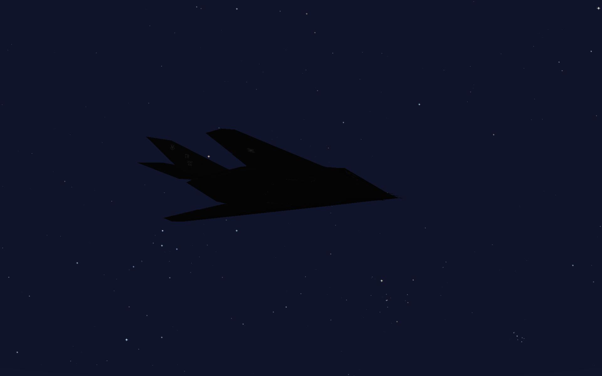 F117a Nighthawk over The Desert