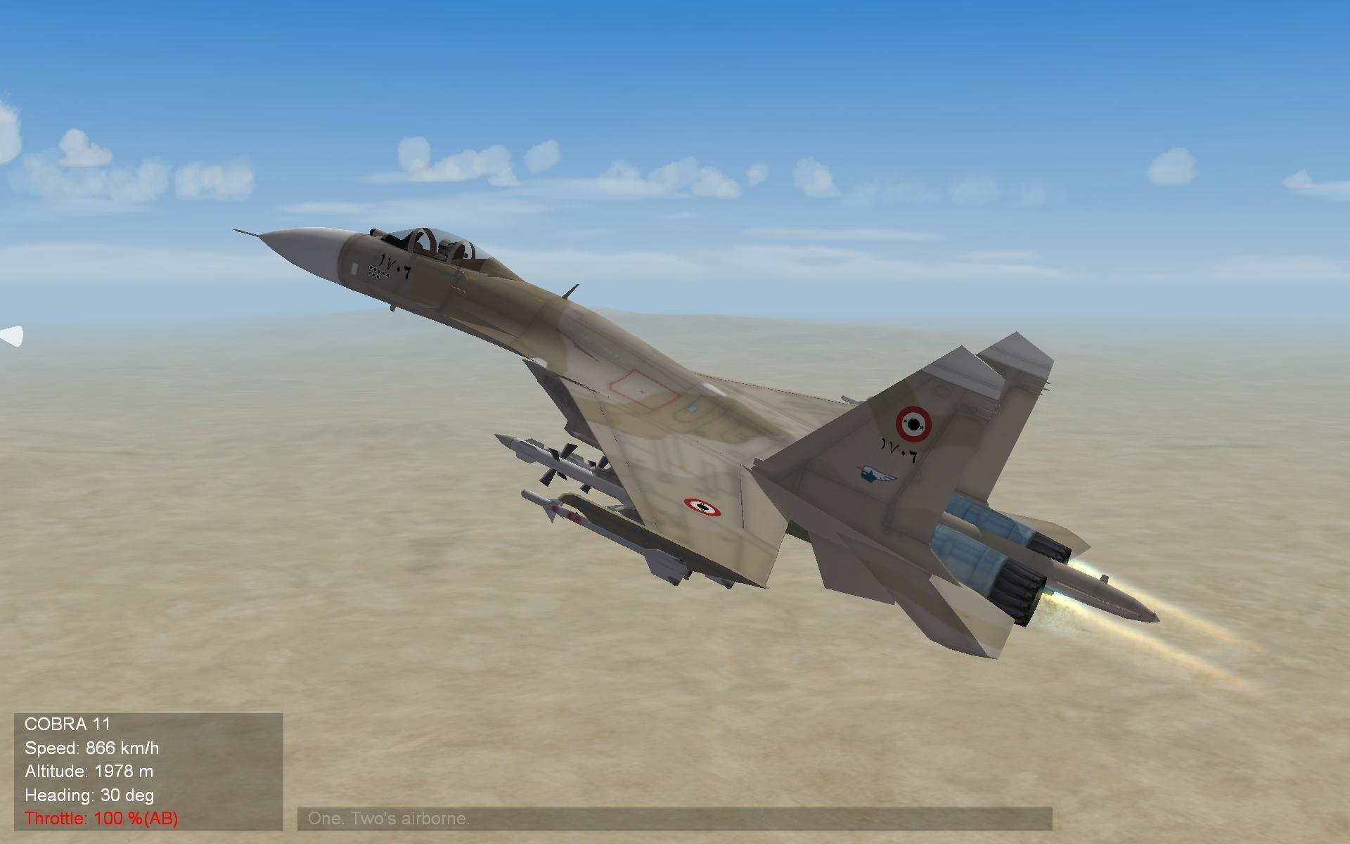 Syrian SU 27 outbound HOT