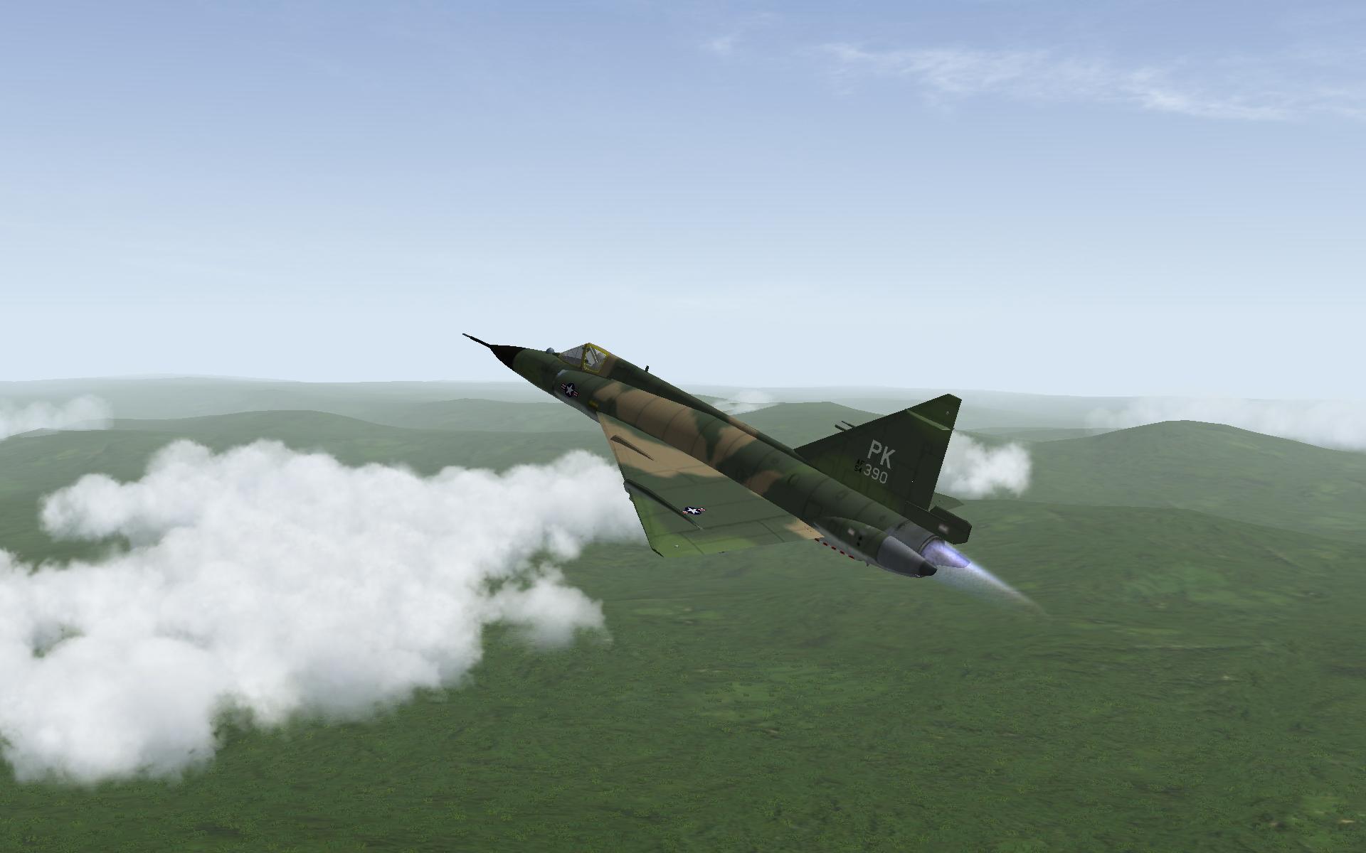 F 102 over VIETNAM
