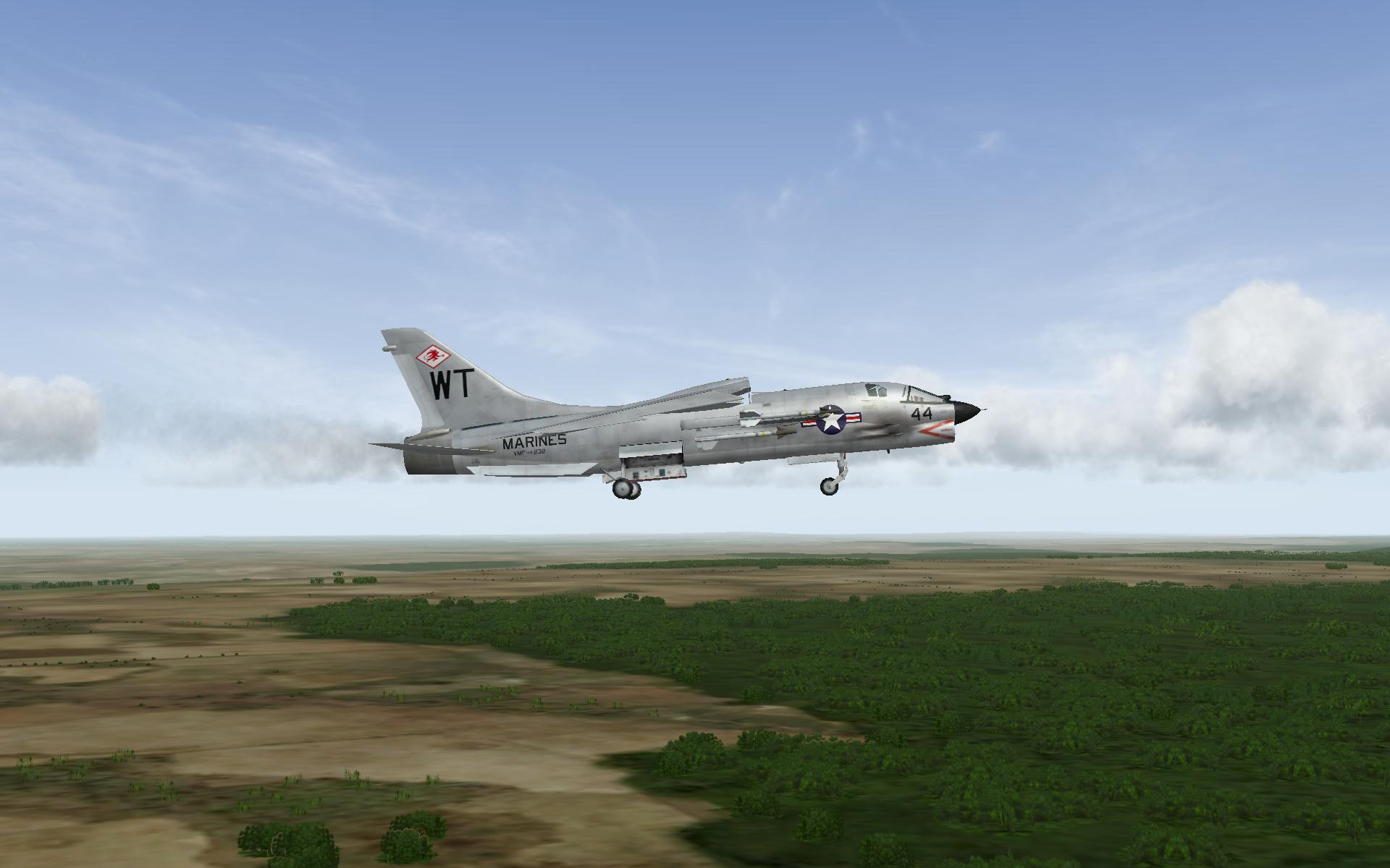 F 8D On final approuch
