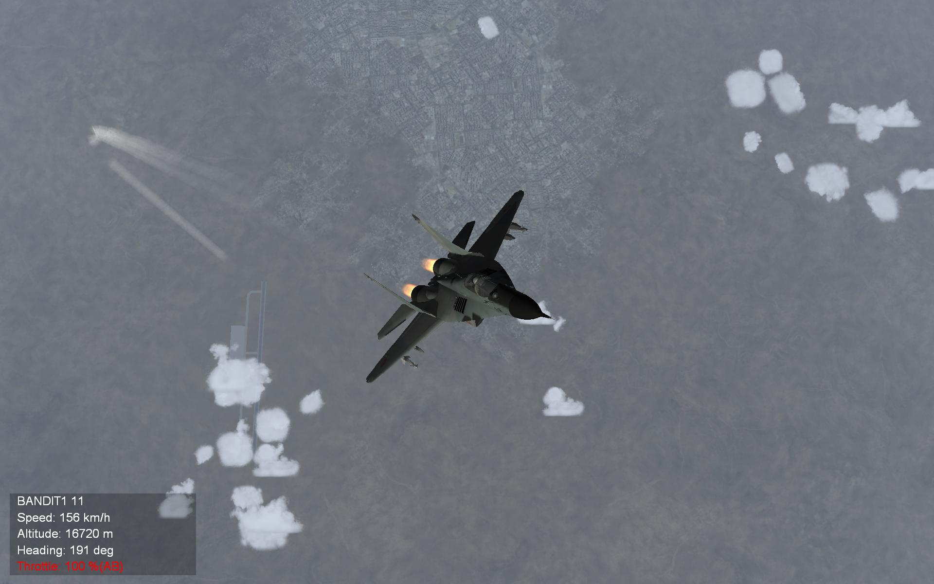 MIG HIGH    MiG 29 over Damascus