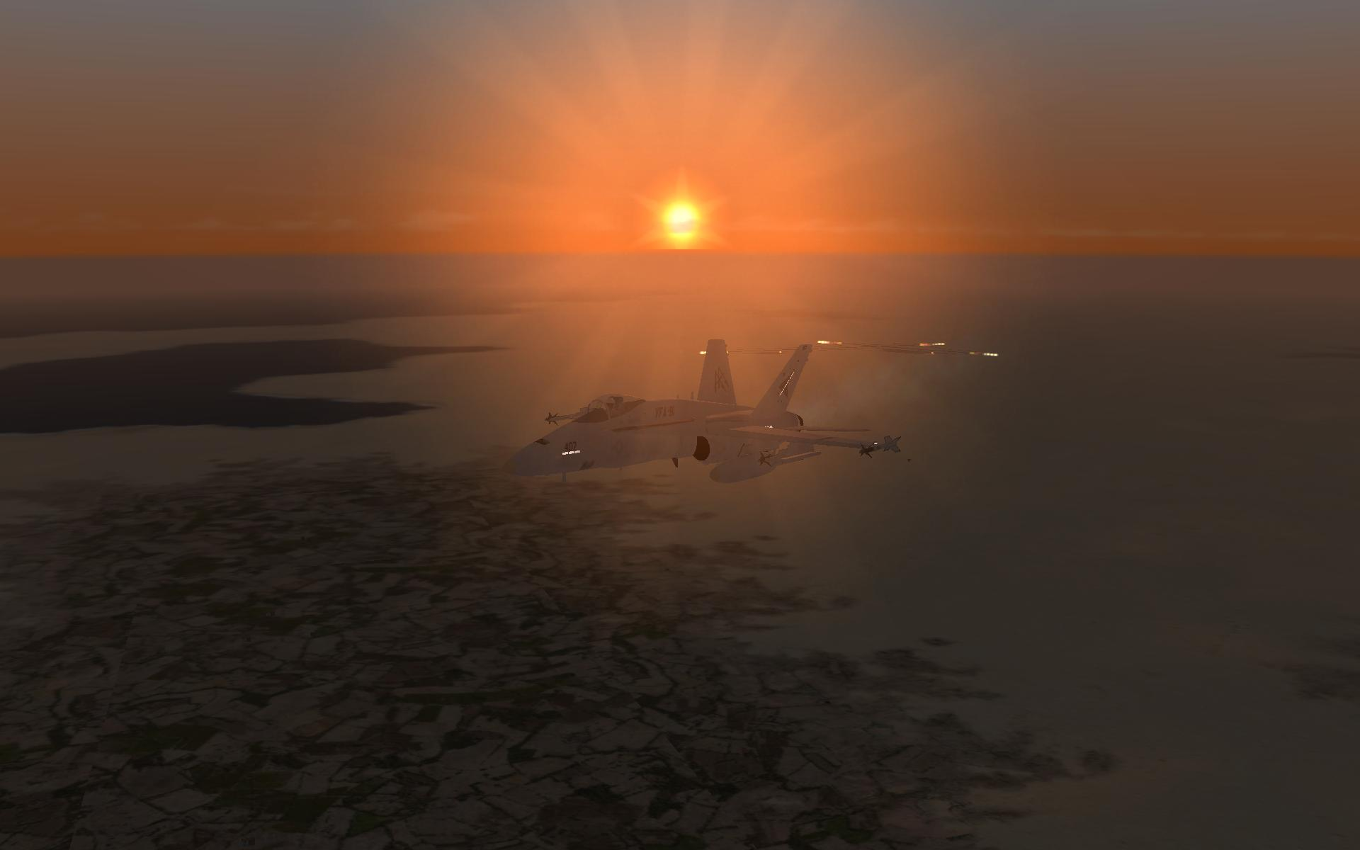 Beautiful End To A night flight over The Gulf