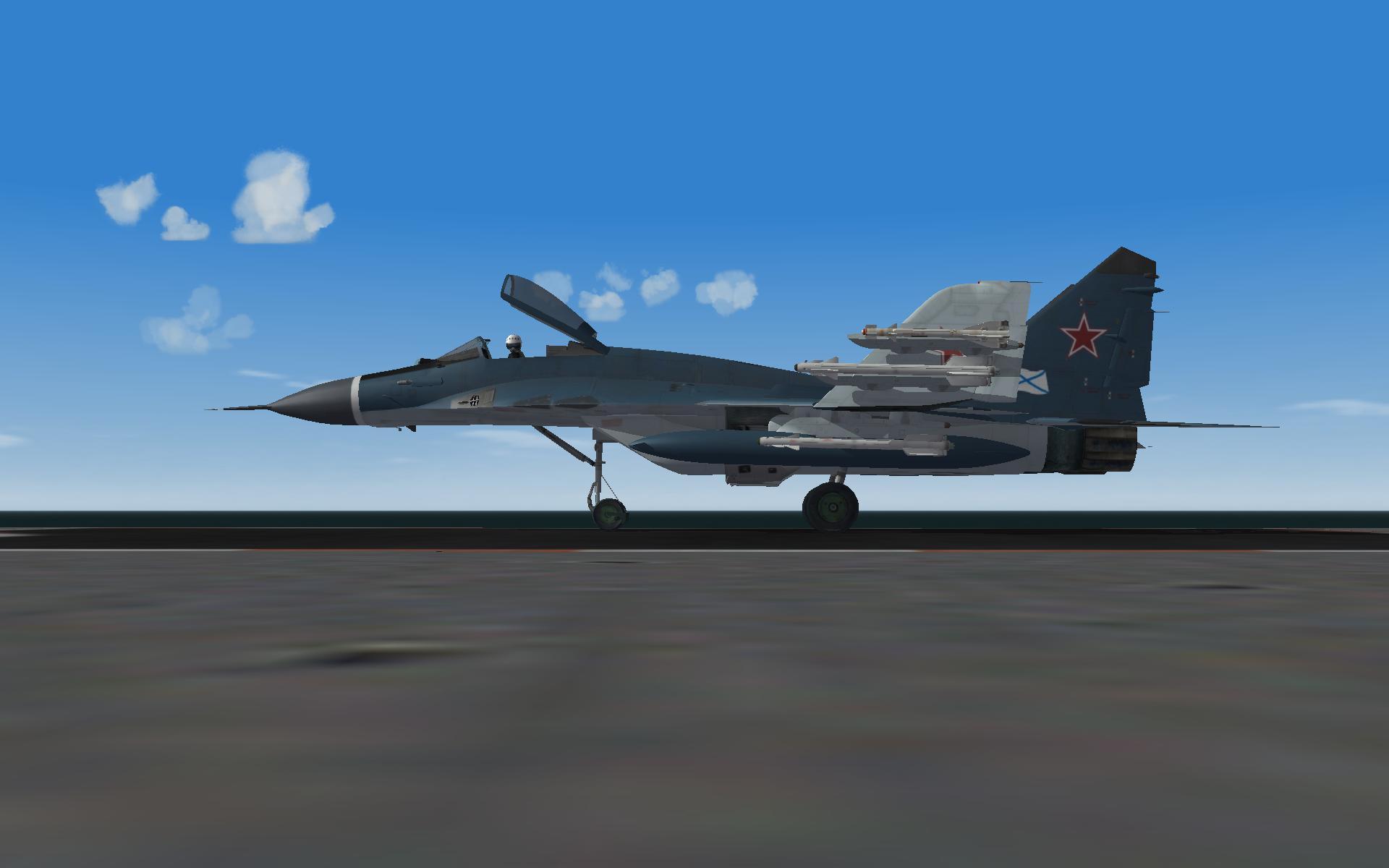 MiG 29K On deck