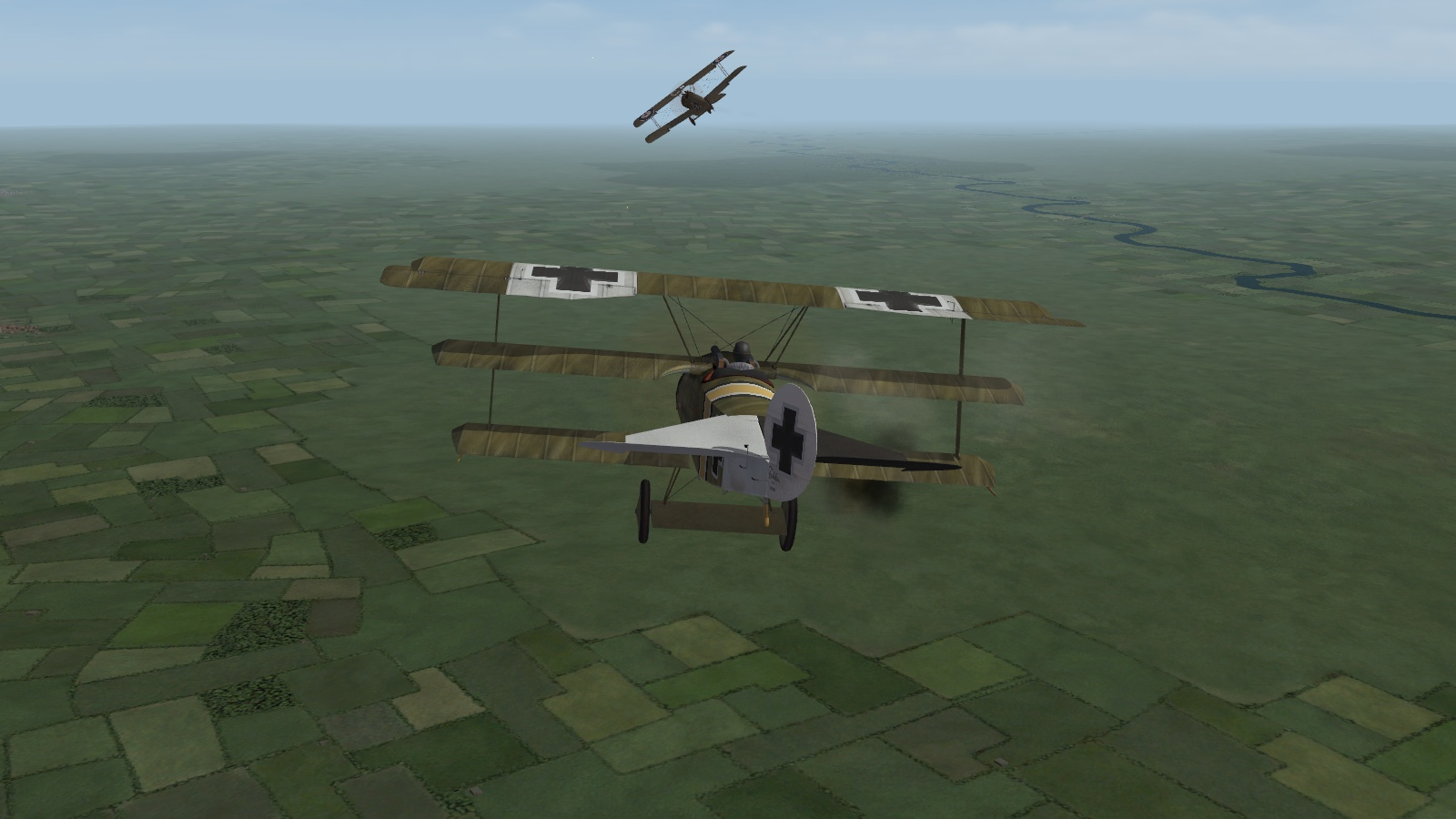 First Eagles 2 - Fokker triplave hunts a Camel